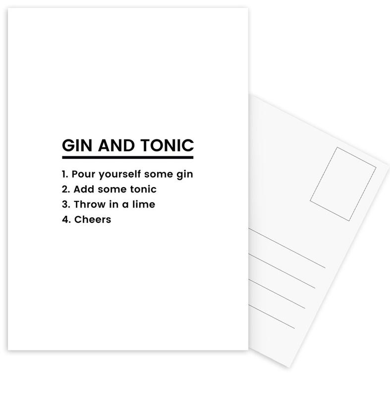 G&T Recipe Postcard Set