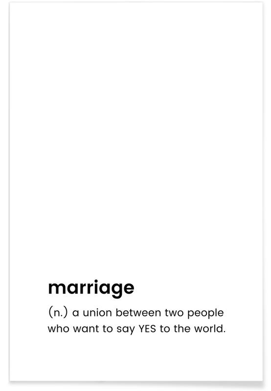 Marriage poster