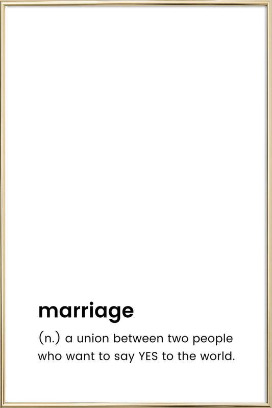 Marriage Poster in Aluminium Frame