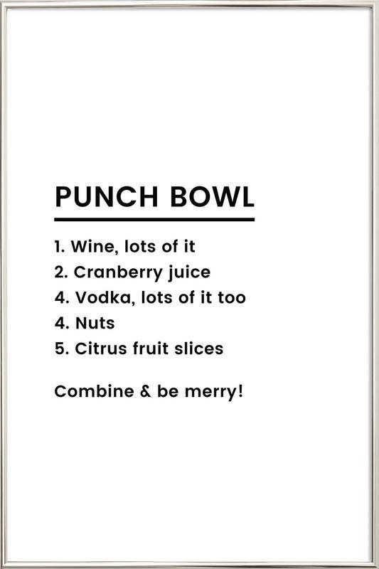 Punch Recipe Poster im Alurahmen | Dekoration > Bilder und Rahmen > Poster | Mehrfarbig
