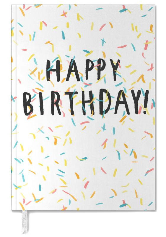 Happy Birthday Confetti -Terminplaner