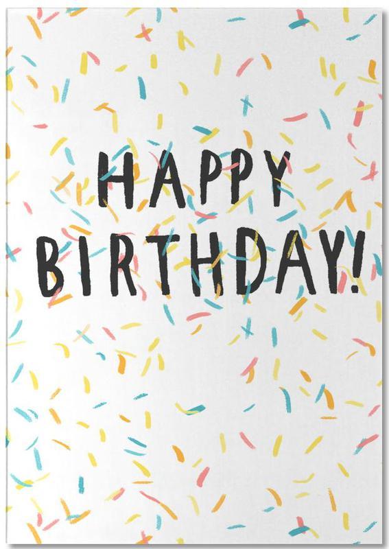 Happy Birthday Confetti Notepad