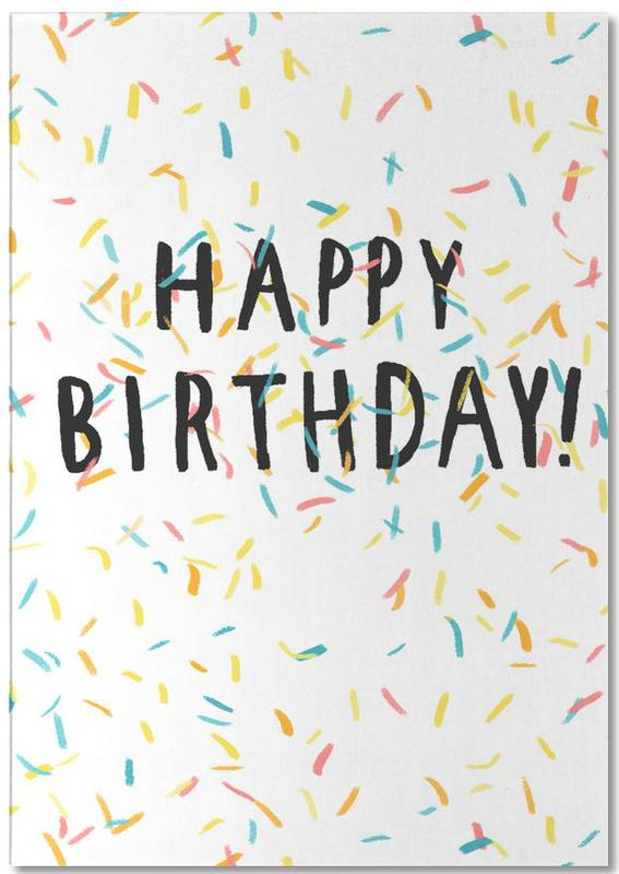 Happy Birthday Confetti -Notizblock