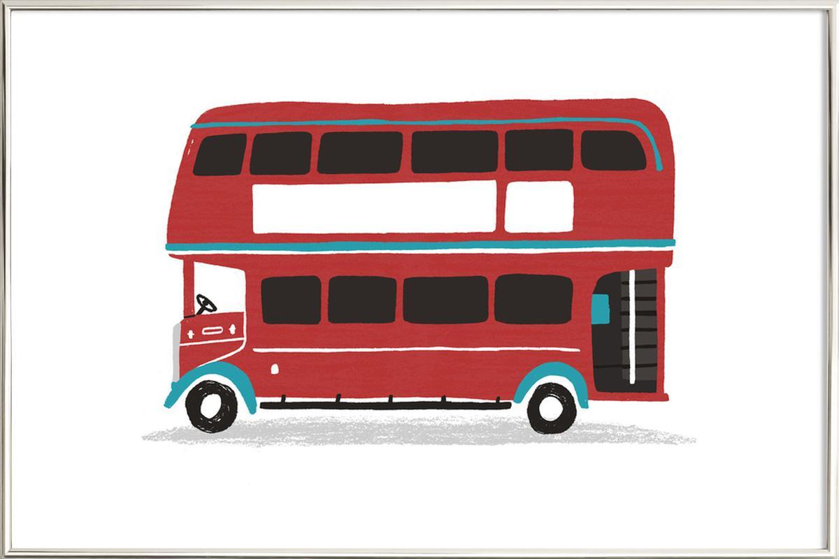 London Bus Poster in Aluminium Frame