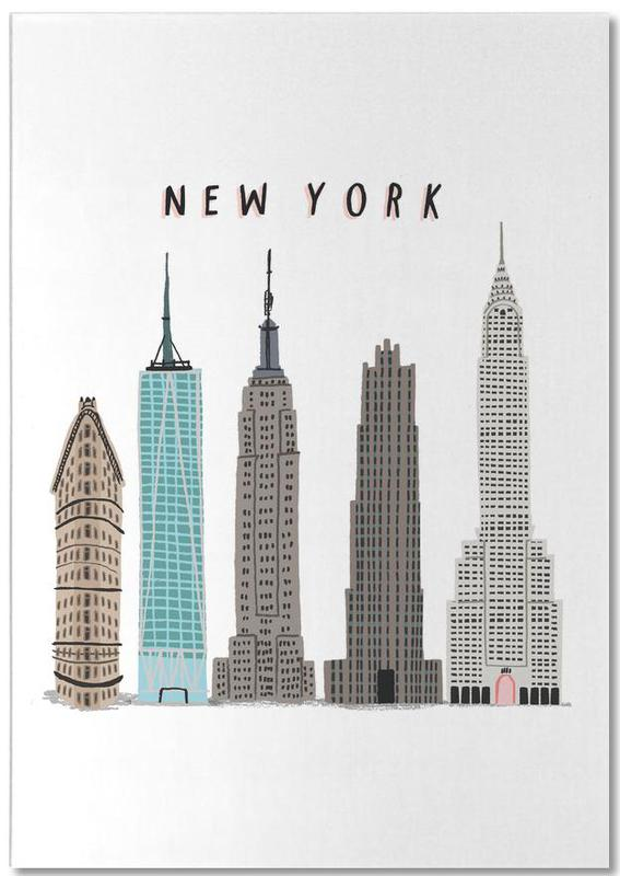 New York Buildings -Notizblock