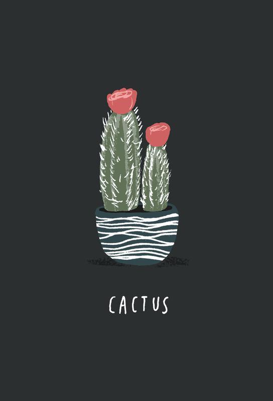 Cactus Aluminium Print