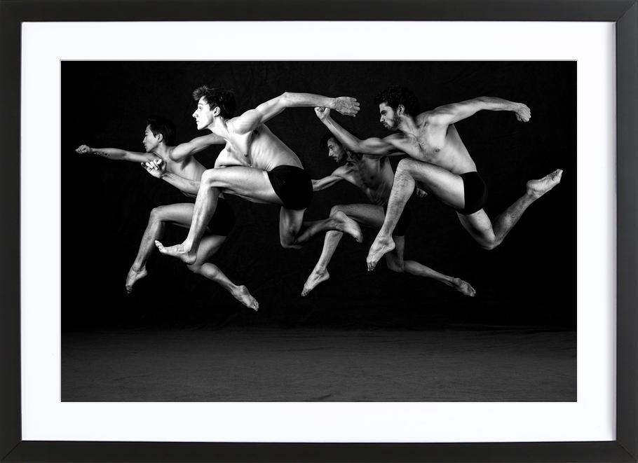 Dance, Dance, Dance 19 -Bild mit Holzrahmen