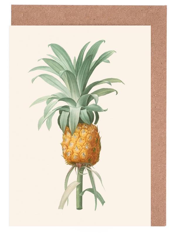 Ananas -Grußkarten-Set