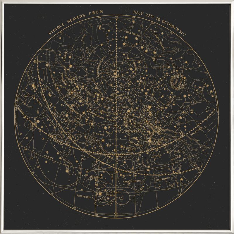 Visible Heavens Dark -Poster im Alurahmen