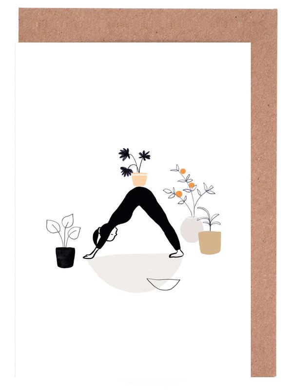 Yoga With Plants 01 Greeting Card Set