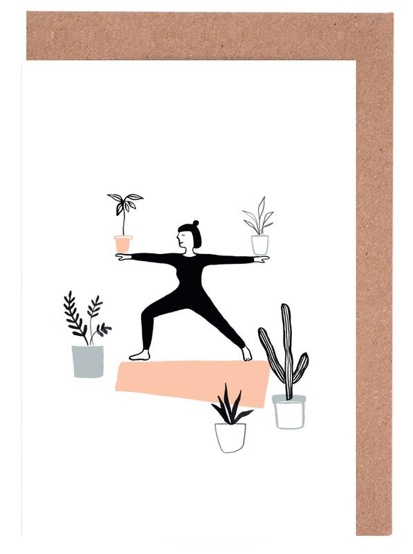 Yoga With Plants 02 Greeting Card Set