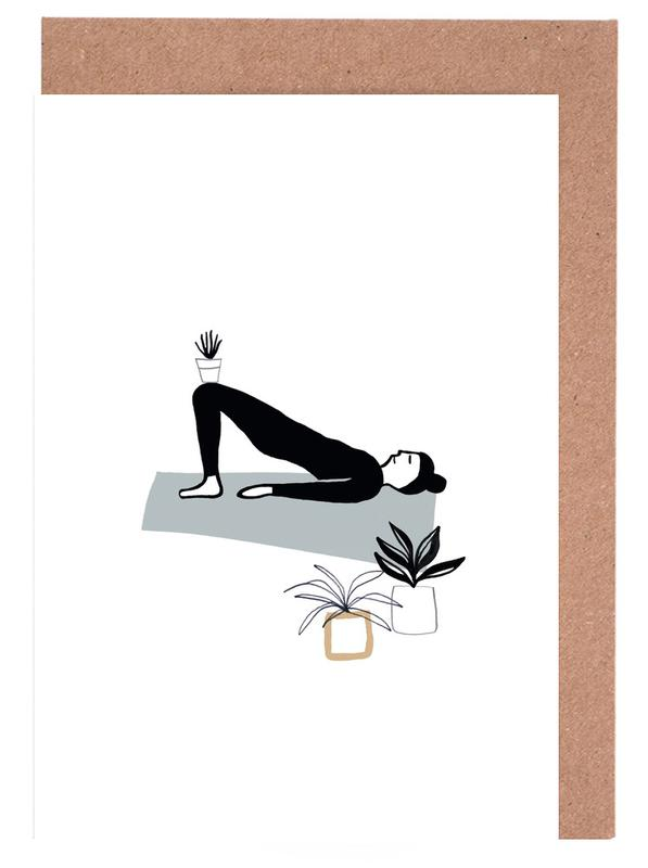 Yoga With Plants 03 Greeting Card Set