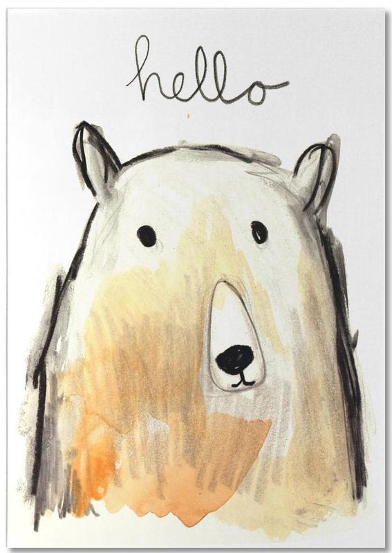 Hello Bear -Notizblock