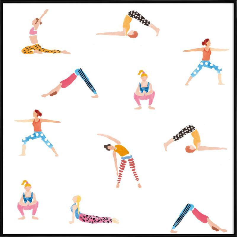 Yoga People -Bild mit Kunststoffrahmen