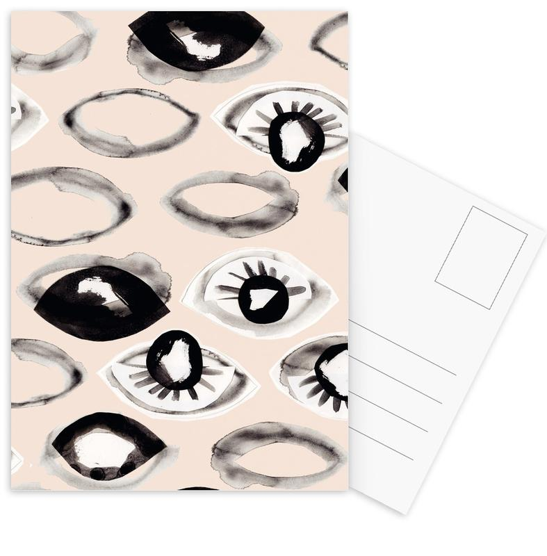 Eyes Ink I -Postkartenset