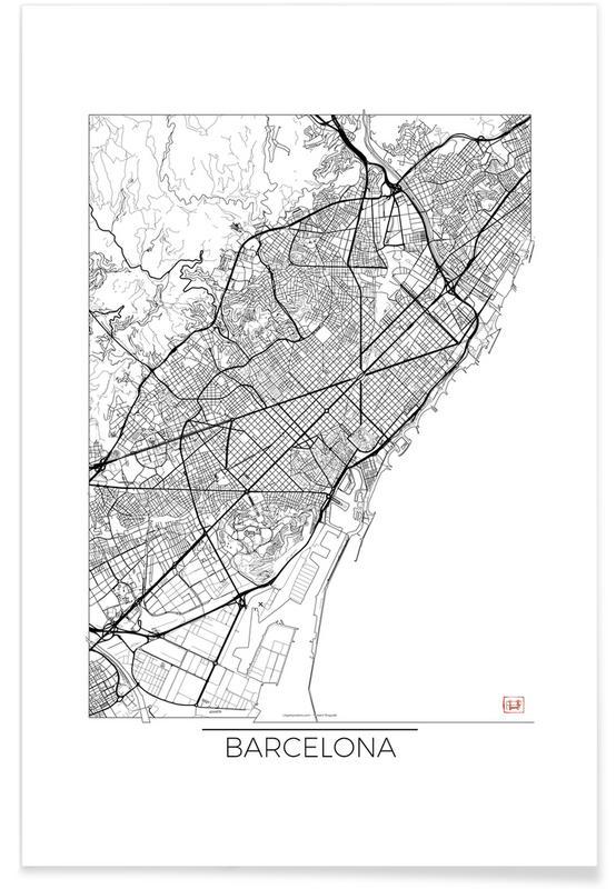 Barcelona Minimal Map Poster