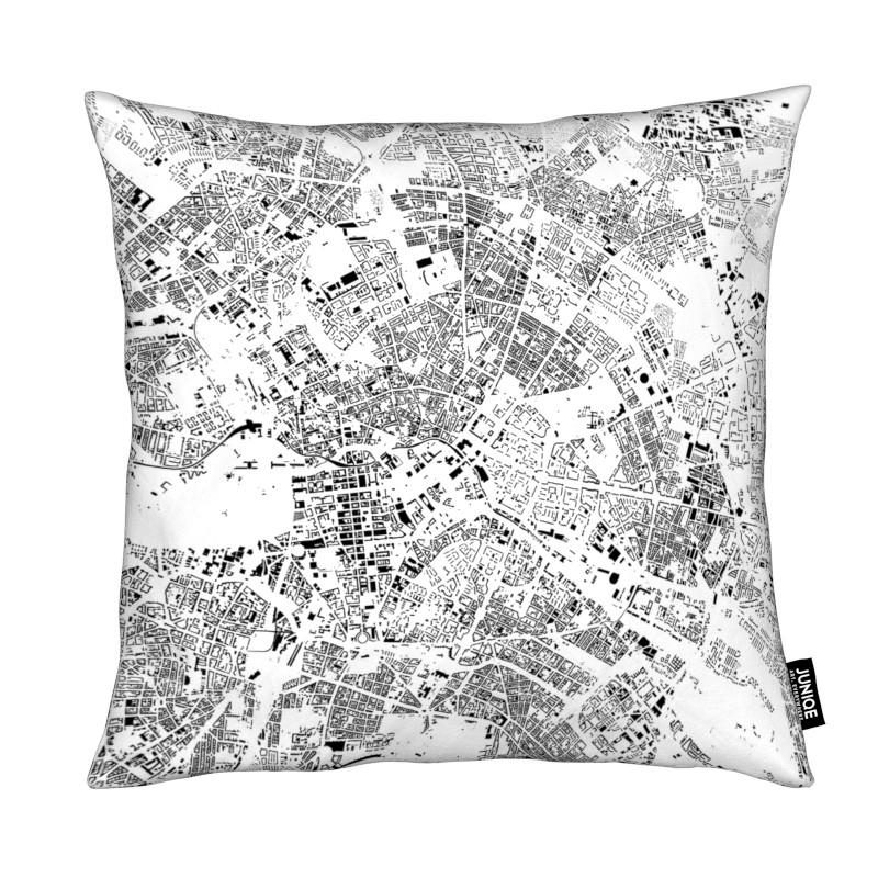Berlin Map Schwarzplan coussin
