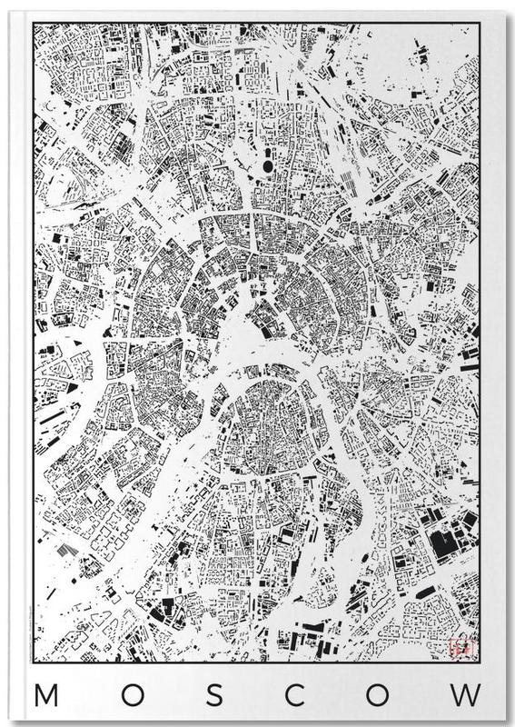 Moscow Map Schwarzplan Notebook