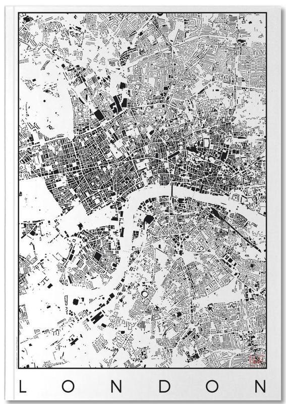 London Map Schwarzplan Notebook