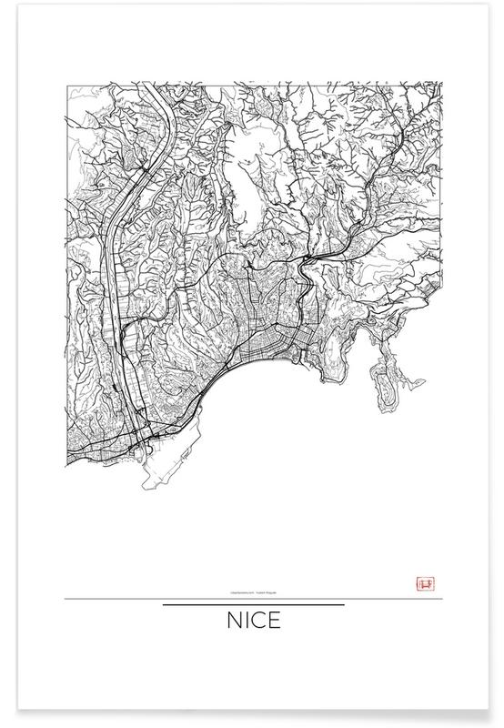 Nice Minimal Map Poster