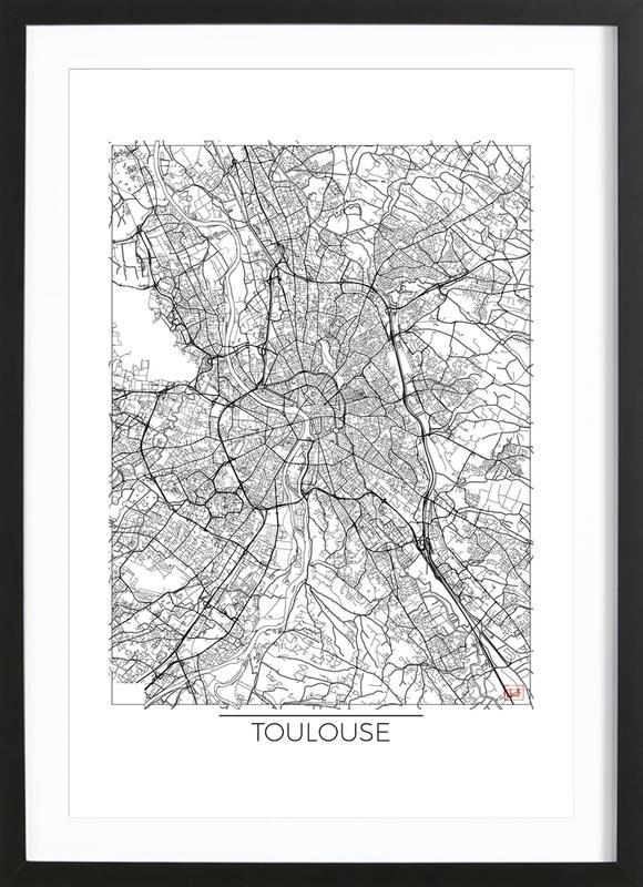 Toulouse Minimal ingelijste print