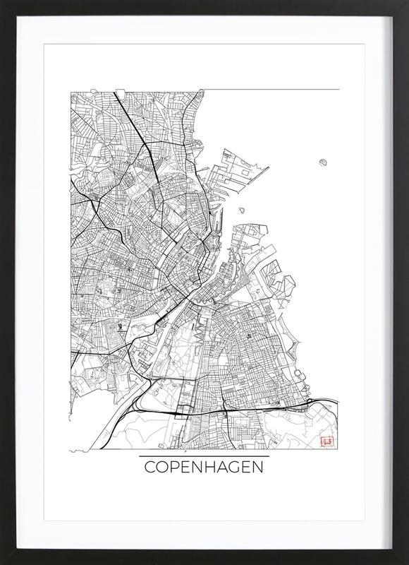 Copenhagen Minimal -Bild mit Holzrahmen