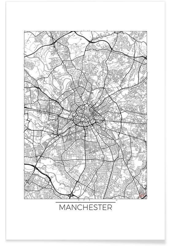Manchester Minimal Map Poster