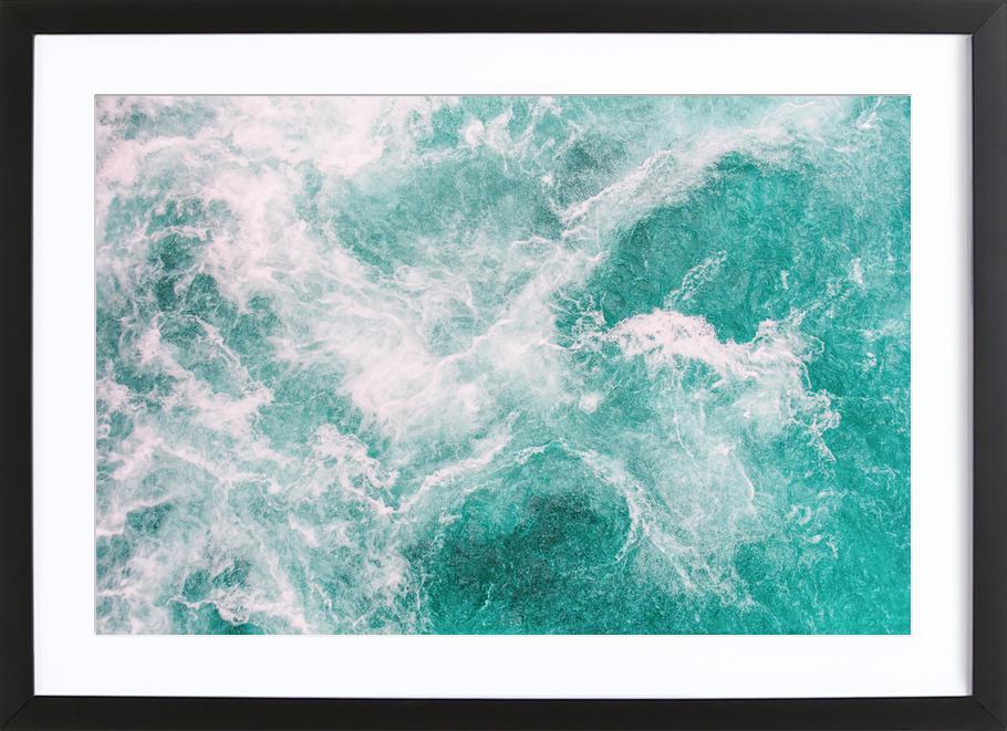 Whitewater 2 -Bild mit Holzrahmen