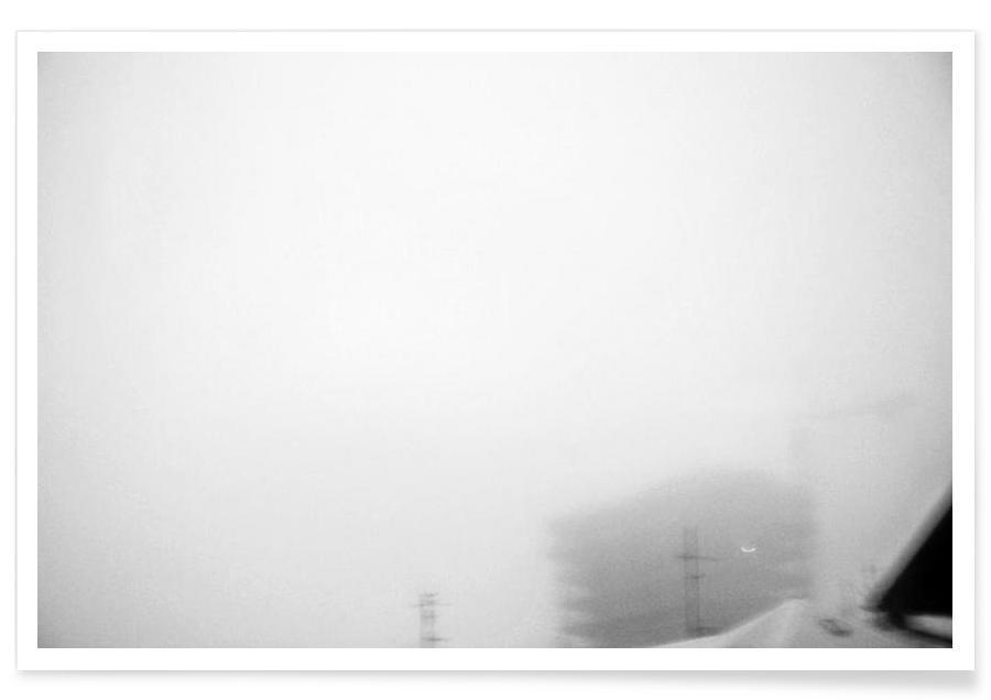 Reykjavík in the mist 2 -Poster