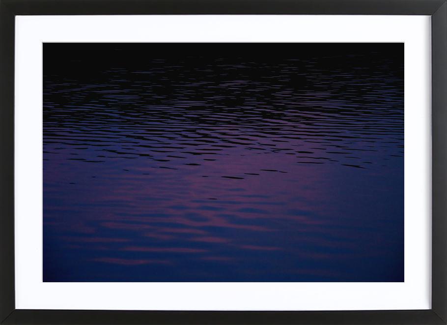 Abstract Waves -Bild mit Holzrahmen
