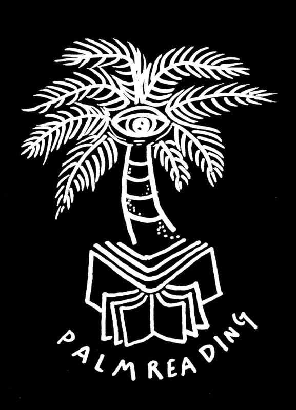 Palm Reading Black Leinwandbild