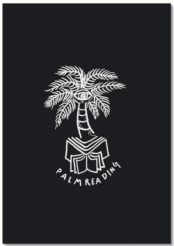 Palm Reading Black Notizblock