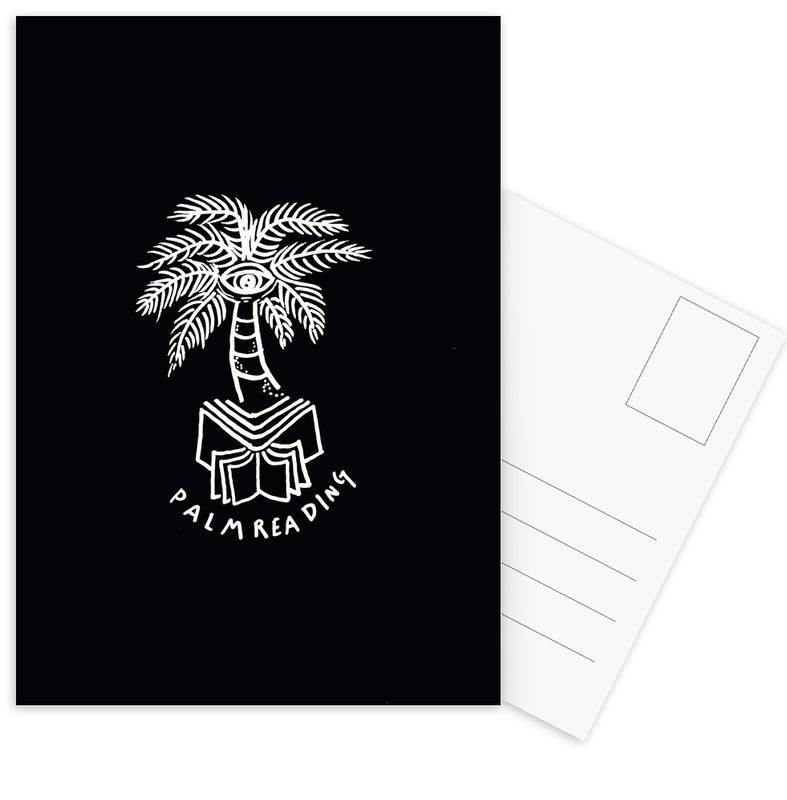 Palm Reading Black Postkartenset