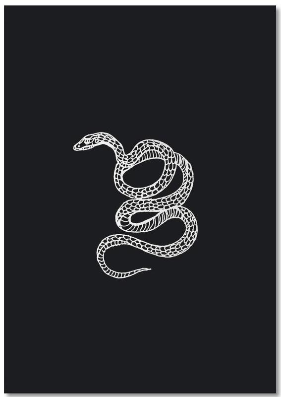 Snake Black Notebook
