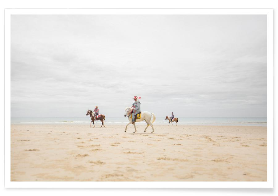 Hua Hin Horses Premium Poster | Dekoration > Bilder und Rahmen > Poster | Mehrfarbig