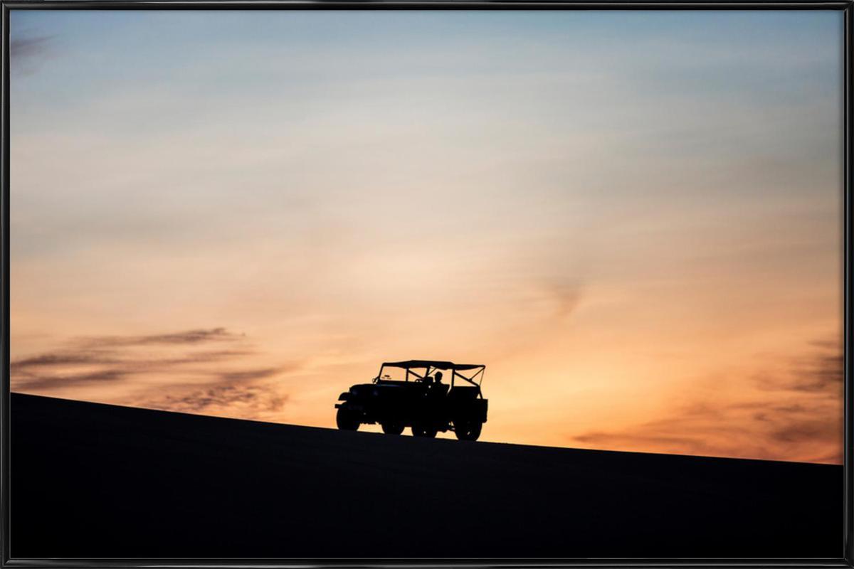 Sunset Sillhouettes -Bild mit Kunststoffrahmen