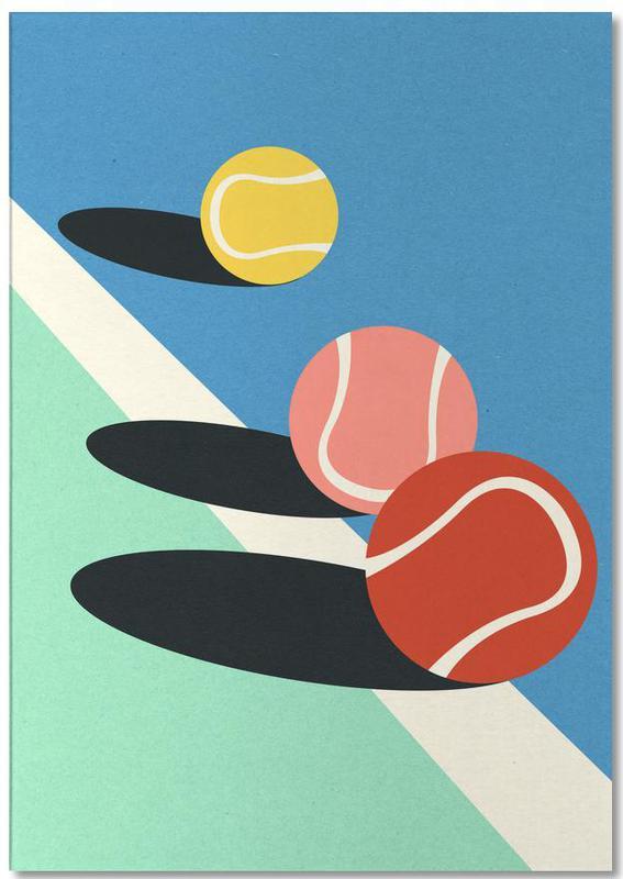 3 Tennis Balls -Notizblock
