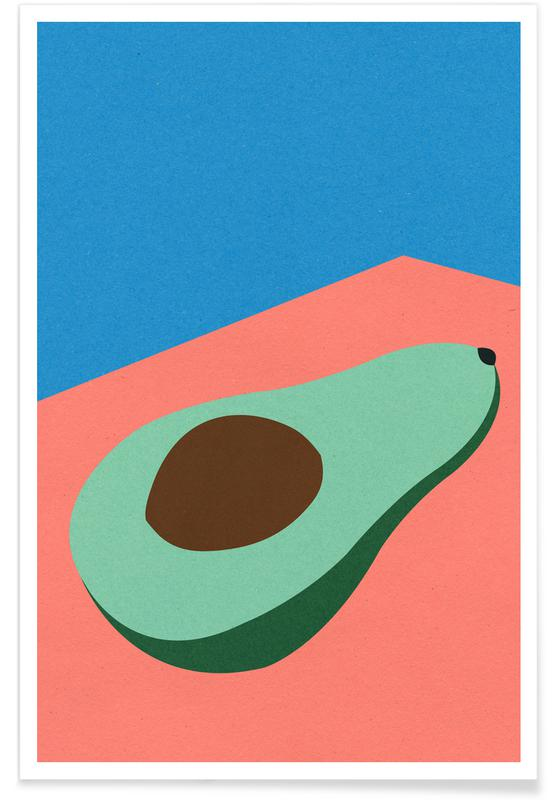 Avocado on the Table -Poster