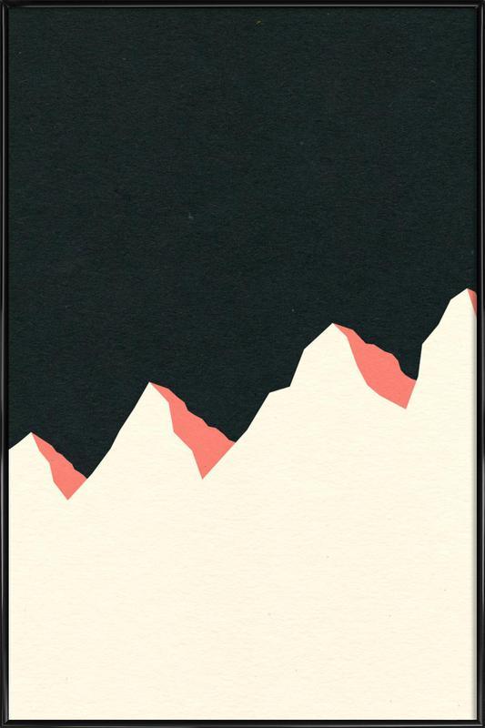 Dark Night White Mountains Framed Poster