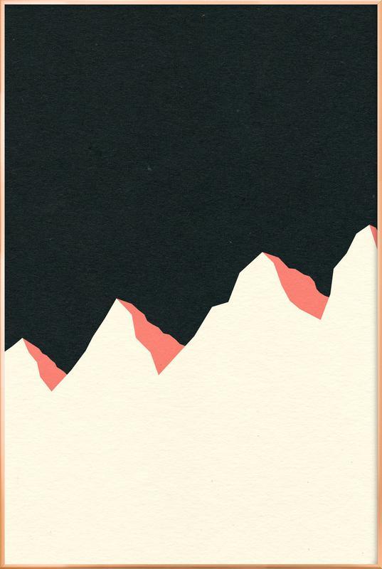Dark Night White Mountains -Poster im Alurahmen