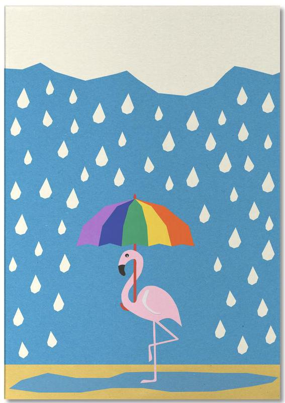 Flamingo de Umbrella -Notizblock