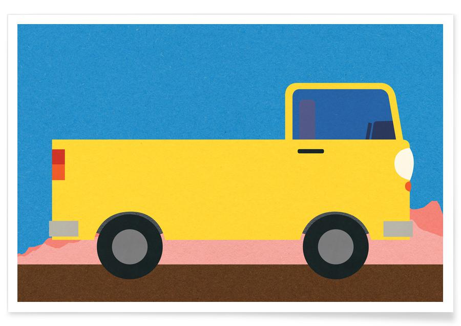 Little Yellow Pickup Truck -Poster