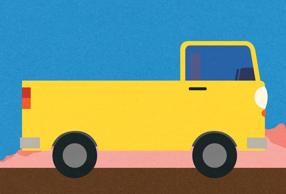 Little Yellow Pickup Truck -Alubild