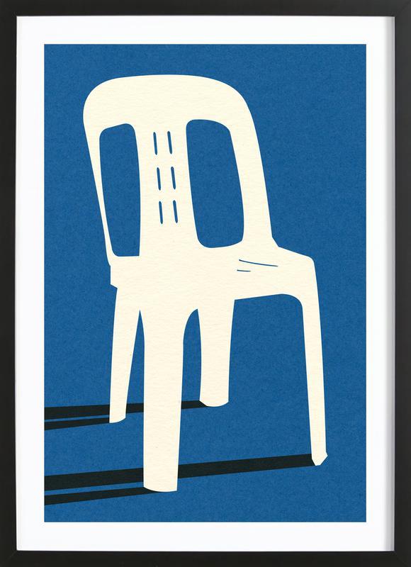 Monobloc Plastic Chair No II -Bild mit Holzrahmen