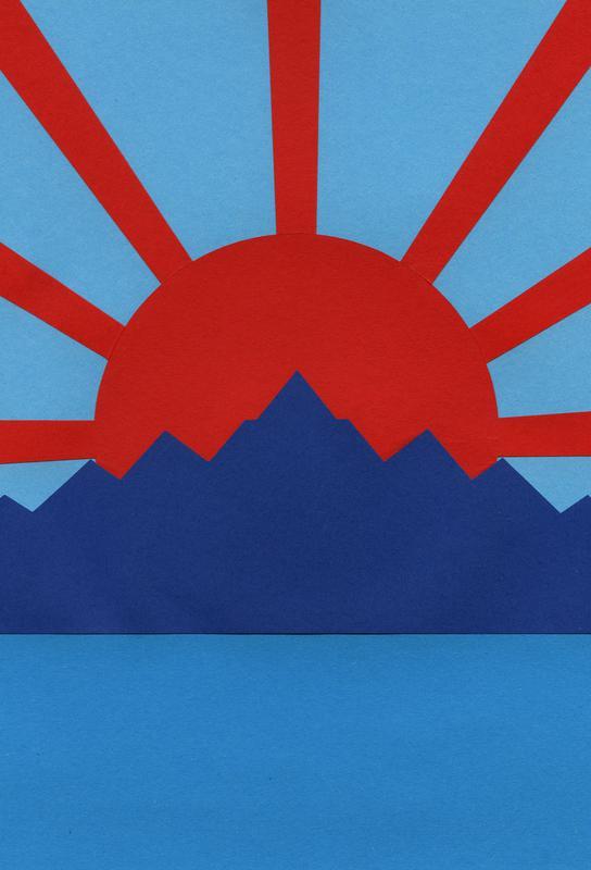 Ocean Moutains Rising Sun -Acrylglasbild