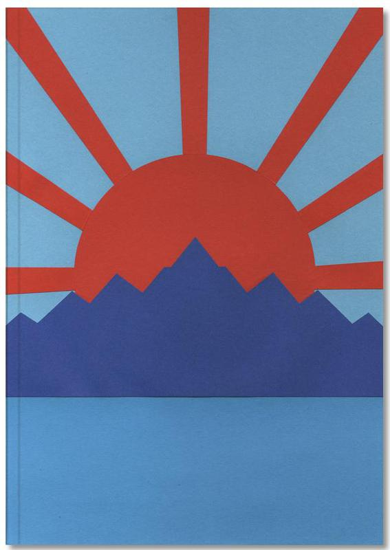 Ocean Moutains Rising Sun Notebook