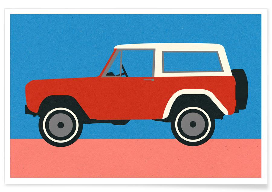 Red SUV -Poster