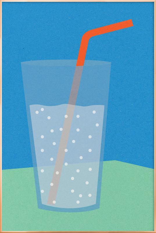 Sparkling Lemonade -Poster im Alurahmen