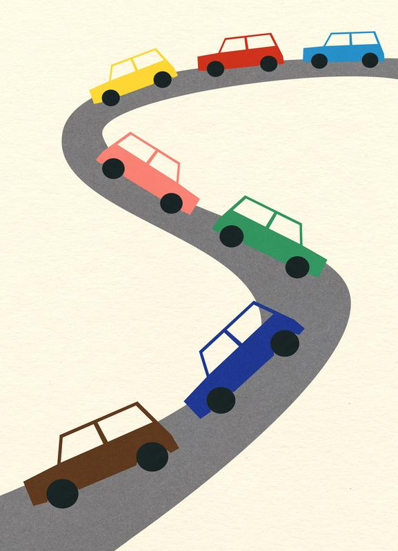 Traffic -Leinwandbild