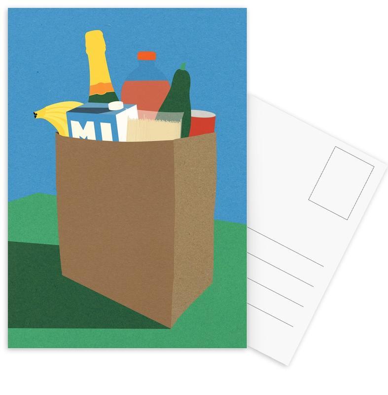 Weekly Grocery Haul Postcard Set